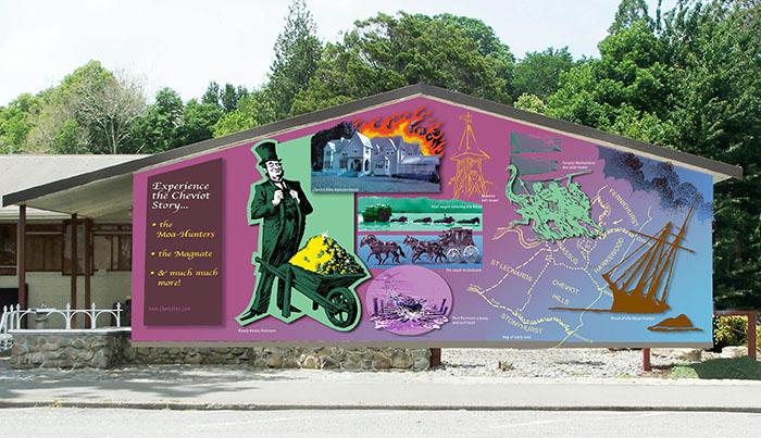 Cheviot Museum mural design